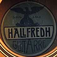 Hallfredh guitar / Hairfred guitar label
