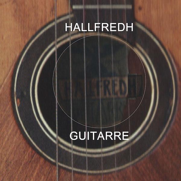 Hallfred guitar / Hairfred guitar label study