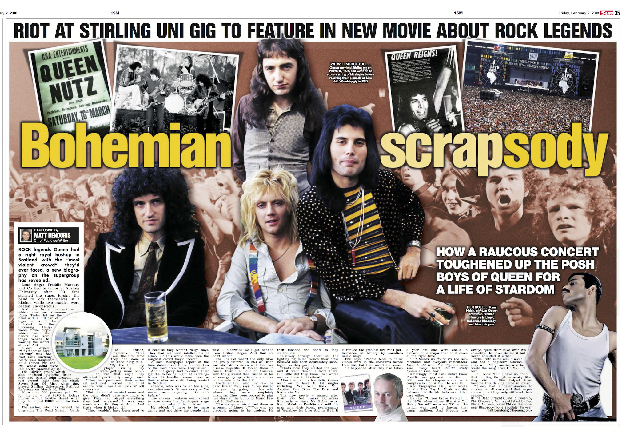 Queen spread - Scottish Sun