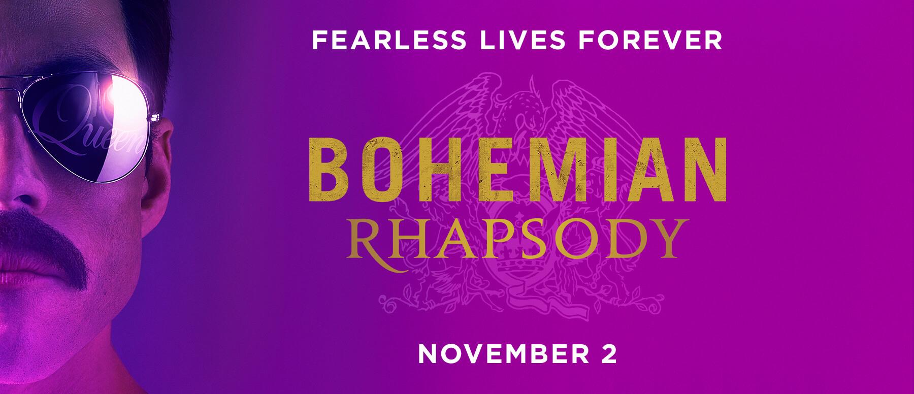Bohemian Rhapsody biopic banner